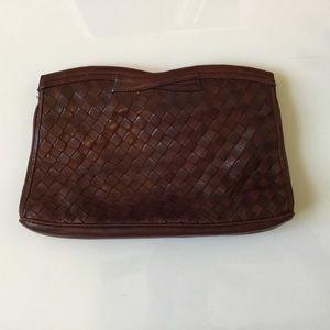 Handbags - Vintage leather clutch.
